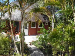 A beautiful private setting for this one bedroom rental fale
