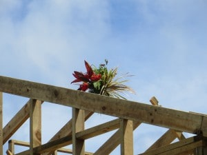 Roof Trusses up indicate owners 'shout'